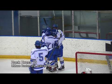 UMass Boston Men's Hockey Vs New England College (2/9/18) Highlights
