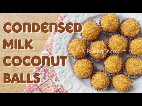 CONDENSED MILK COCONUT BALLS | Recipe | Baking Cherry