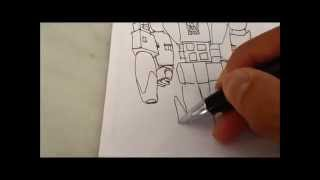 How to draw Galvatron from Transformers G1 movie 1986