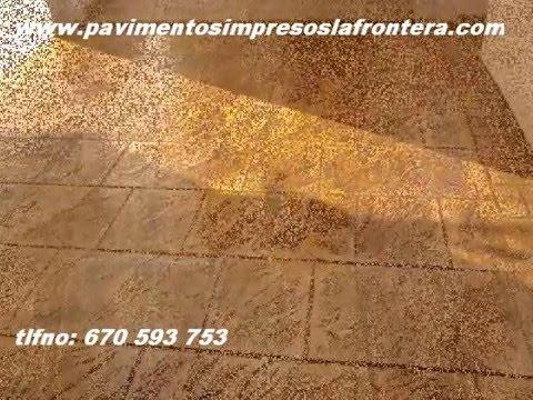 Hormigon impreso la frontera hormigon pulido pavimento en Hormigon impreso sevilla