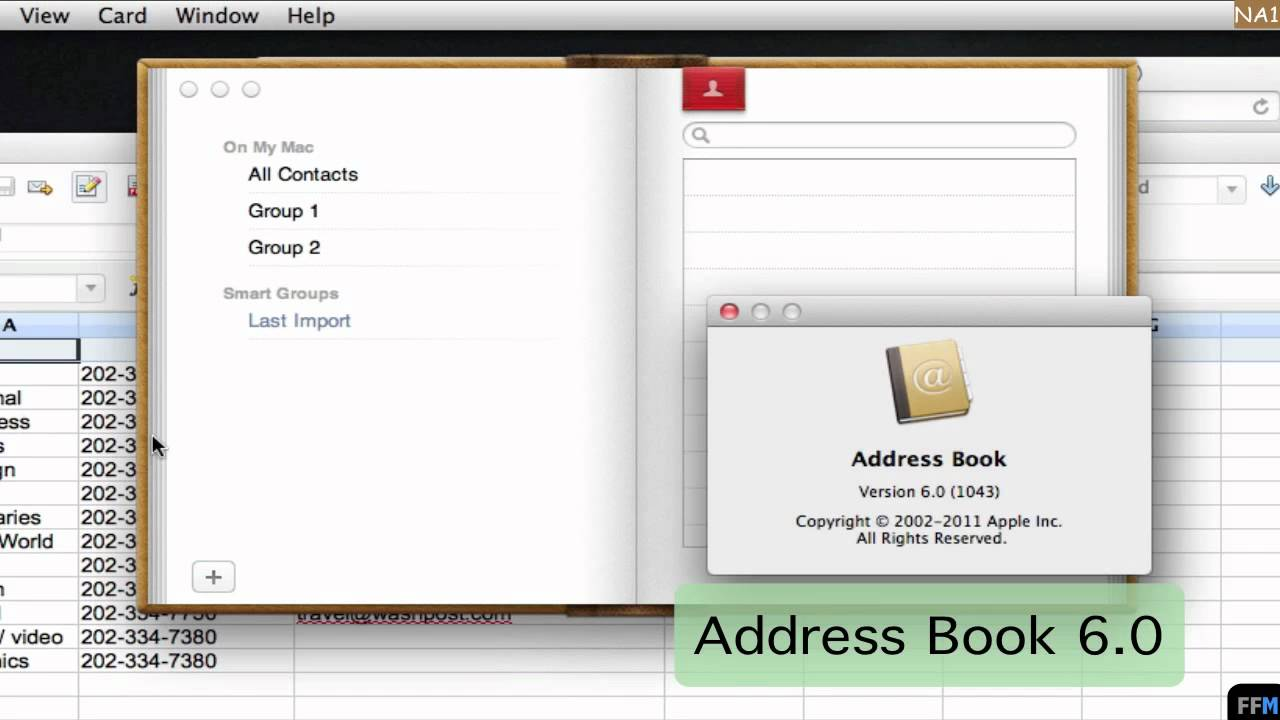 create csv file for address book free new app 1 youtube