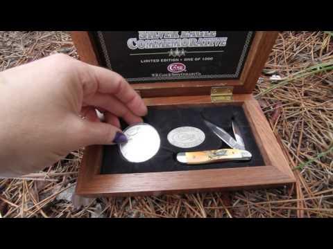 Case Silver Eagle Commemorative Limited Edition 2004 Peanut Stag 1392 - video demo