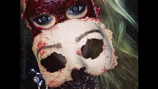 masquerade sfx mask PART 2 halloween makeup tutorial