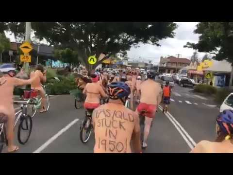 Cyclists Bare All For Their Rights In World Naked Bike Ride