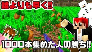 【マインクラフト】人参早刈り対決!!【あかがみんクラフト3】56
