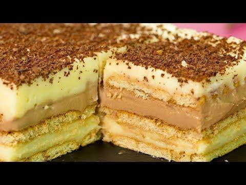 Торта без печене! Десерт за всички поводи! Най-нежна, ефирна и вкусна торта! I Apetiten TV