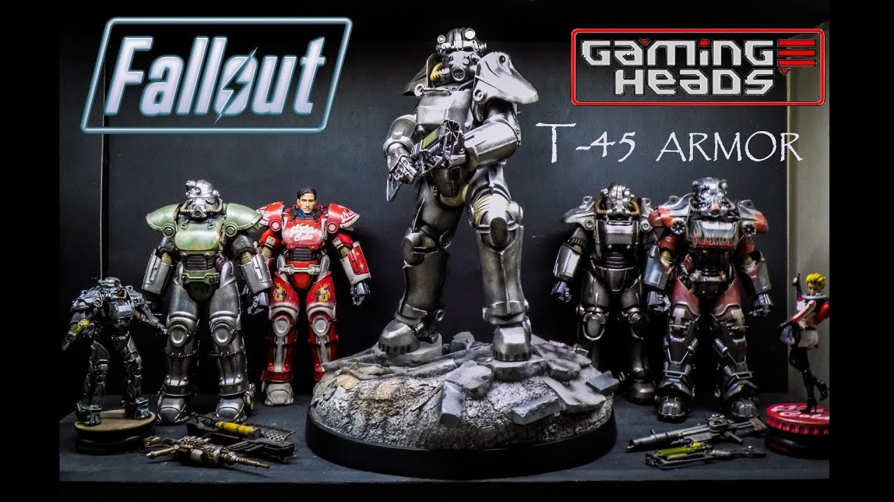Fallout T-45 power armor statue by Gaming Heads Unboxing & review