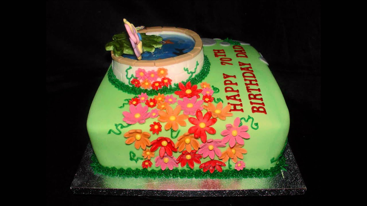 Fish Pond 70th Birthday Cake Youtube