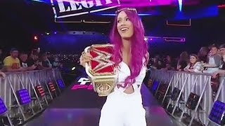 Sasha Banks entrance - RAW 10/24/16 Hell in a Cell contract signing