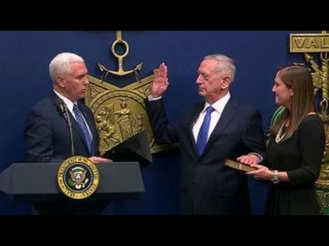 Ceremonial swearing in of Defense Secretary James Mattis