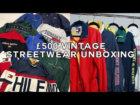 £500 VINTAGE STREETWEAR CLOTHING UNBOXING/HAUL
