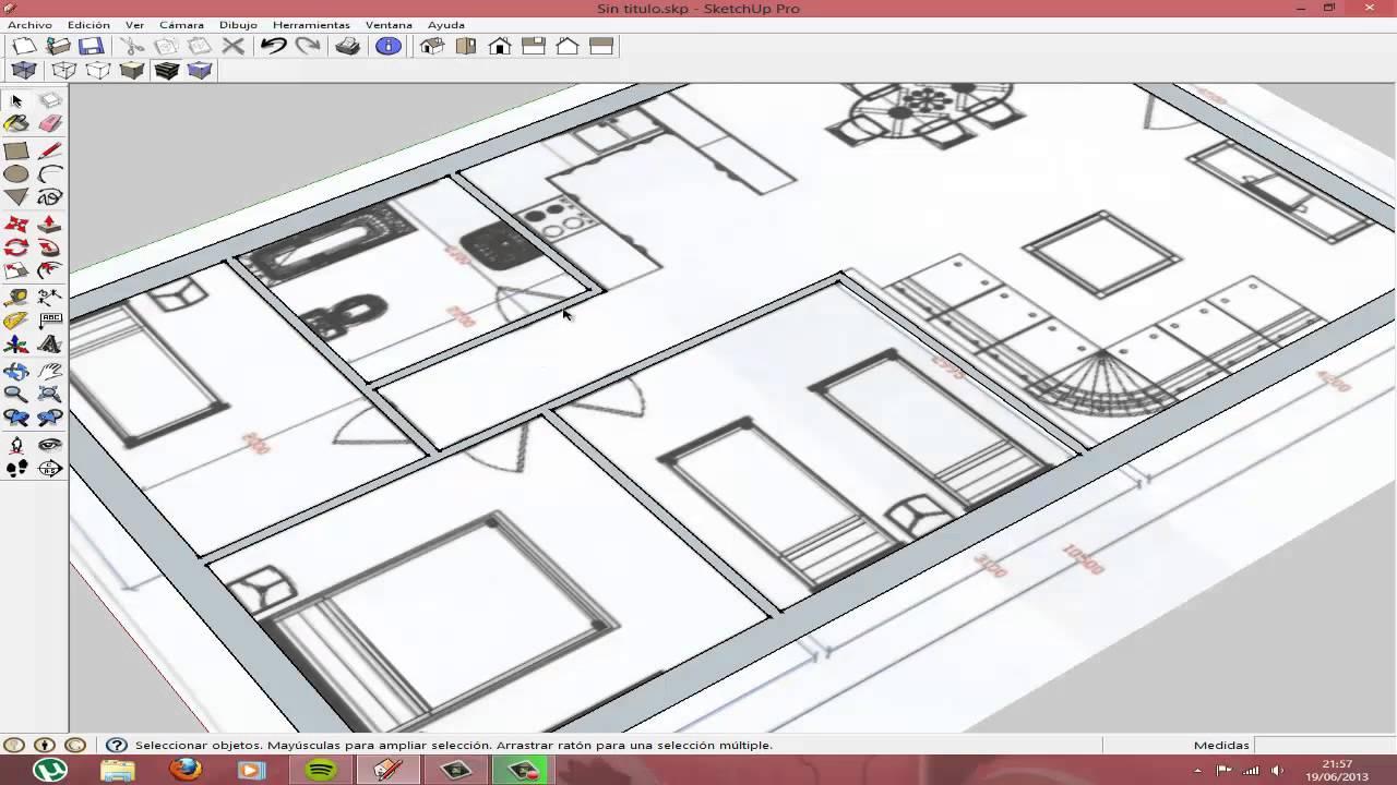 Sketchup casa youtube for Mobilia para sketchup 8