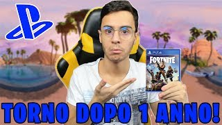 😱 GIOCO a FORTNITE DOPO 1 ANNO su PS4! LA DIFFERENZA è CLAMOROSA!!