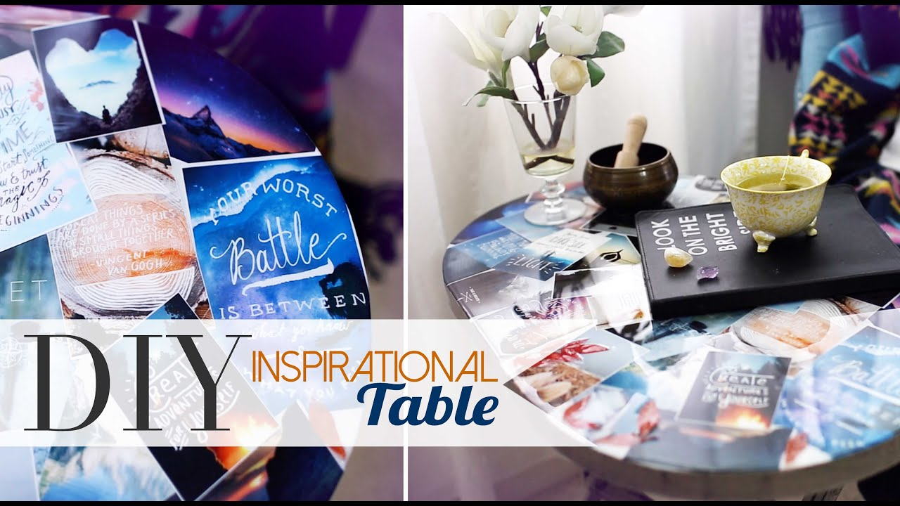 Pinterest Home All: DIY Tumblr Pinterest Collage Table