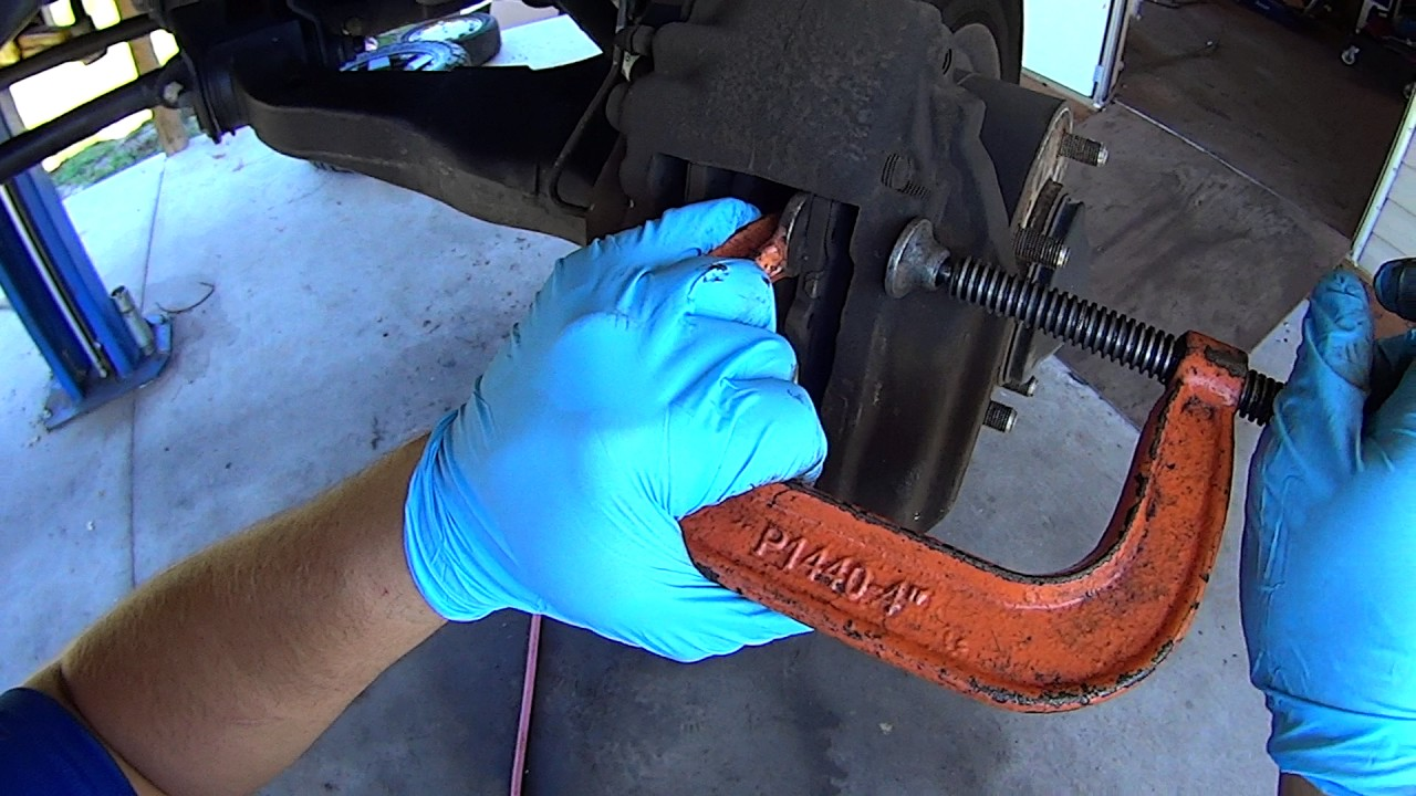 When To Replace Brake Pads >> How to replace front brake pads on Toyota Tundra, Sequoia ...