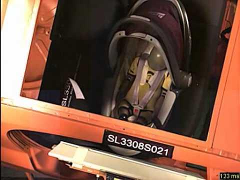 romer baby safe sleeper crash test top view youtube. Black Bedroom Furniture Sets. Home Design Ideas