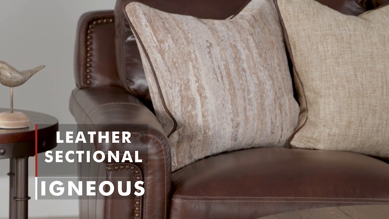 Product Spotlight Igneous Leather Sectional Wg R Furniture Youtube