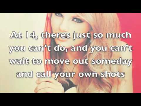 Never Grow up lyrics - taylor swift