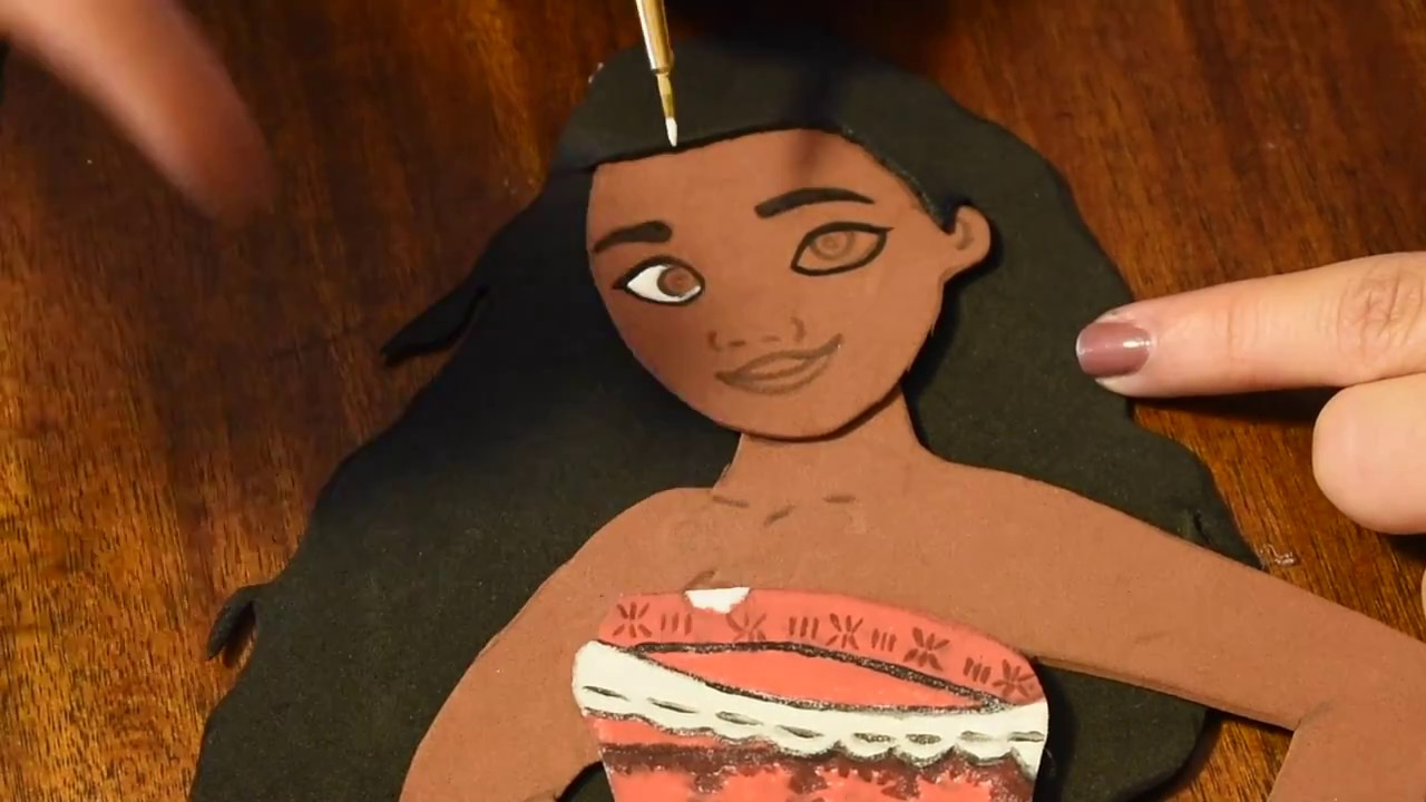 Moana Birthday Decorations Foam Tutorial DIY