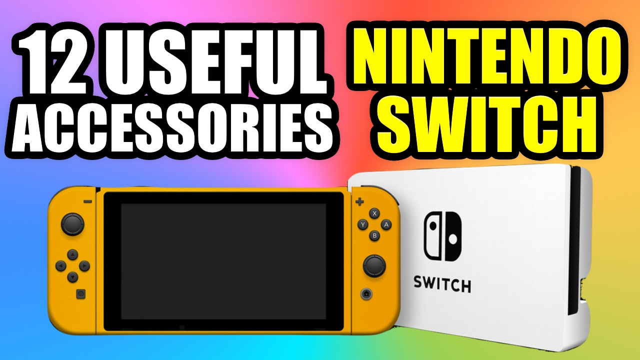 0c1ba7e367bc9 12 Useful Accessories For NINTENDO SWITCH - YouTube
