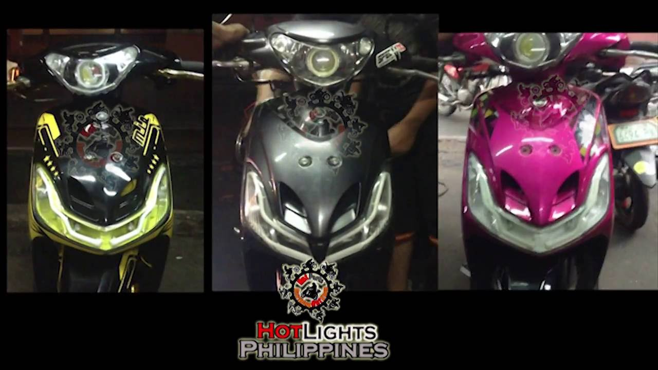 Mio Amore Sporty Projector N Lights Set Up HotLights - Mio decalsyamaha mio sporty sticker decals for motorcycle cebu philippines