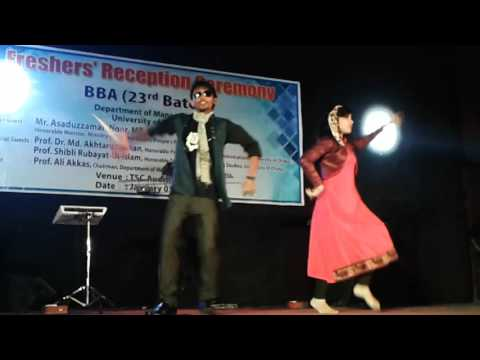 Akashe te lokkho tara by Munna and Hasiba at Dhaka University