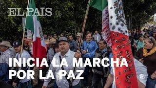 VIOLENCIA| Inicia marcha por la PAZ encabezada por Javier #Sicilia y Julian #LeBarón