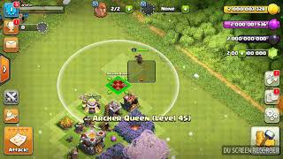 Clash of clans immortal queen troll (UNSTOPPABLE HERO ATTACK)