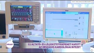 Új altató- és lélegeztetőgépeket kapott az Országos Kardiológiai Intézet