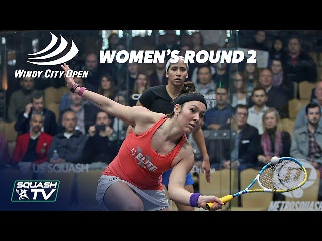 Squash: Windy City Open 2018 - Women's Rd 2 Roundup [Pt.2]