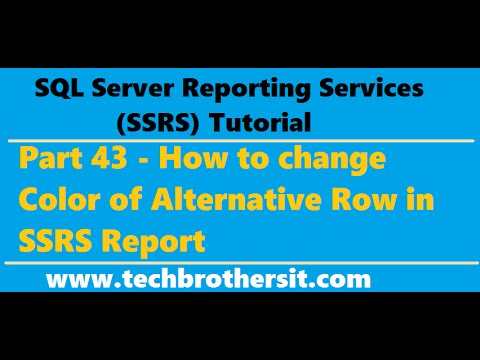 SSRS Tutorial 43 - How to change Color of Alternative Row in SSRS Report