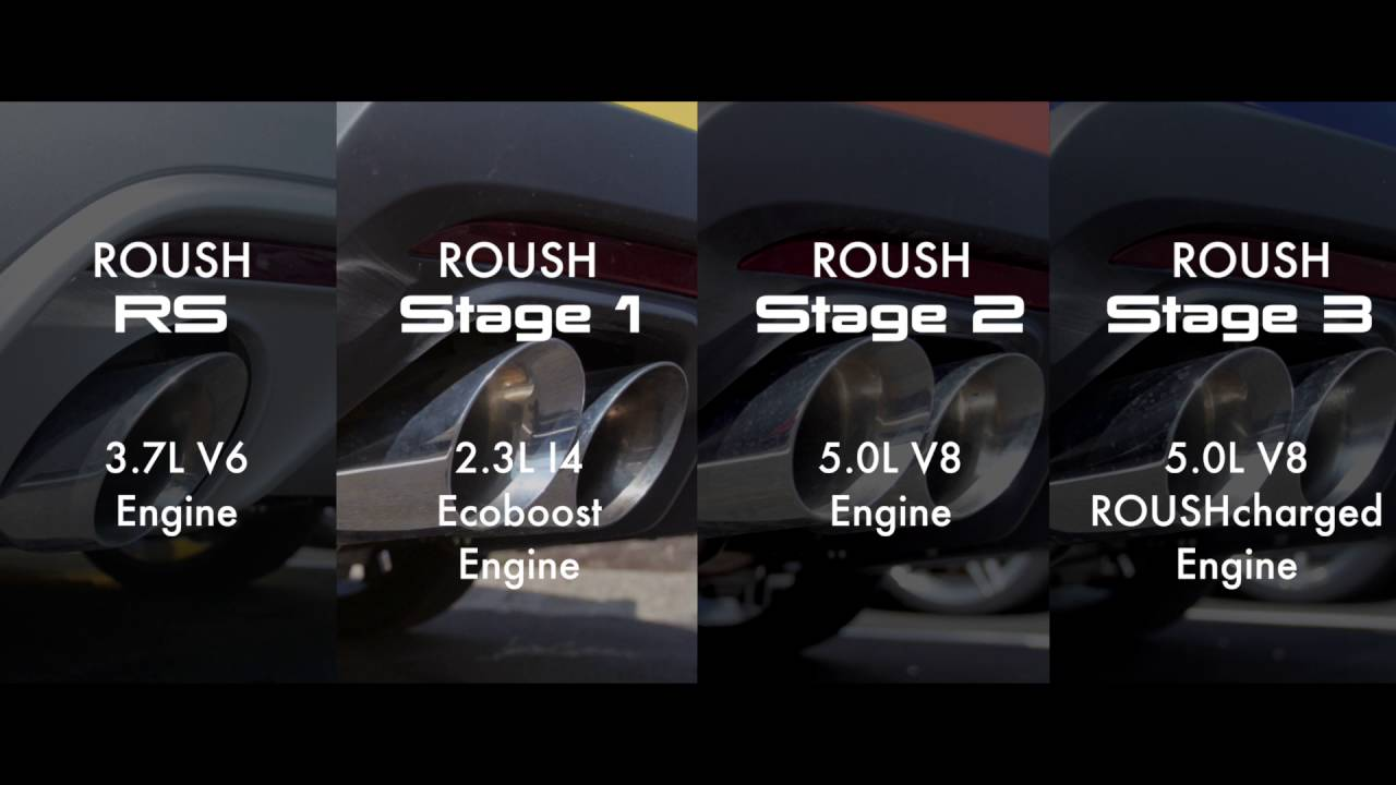 Roush Sound Check Rs Vs Stage 1 Vs Stage 2 Vs Stage 3 Youtube