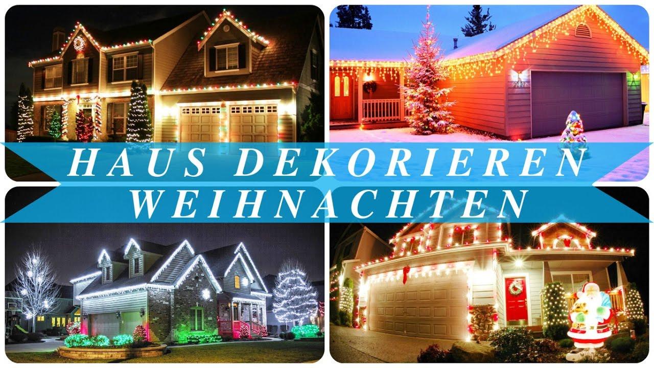 Haus dekorieren weihnachten - YouTube