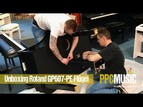 Unboxing Roland GP607-PE Flügel @PPC Music Hannover
