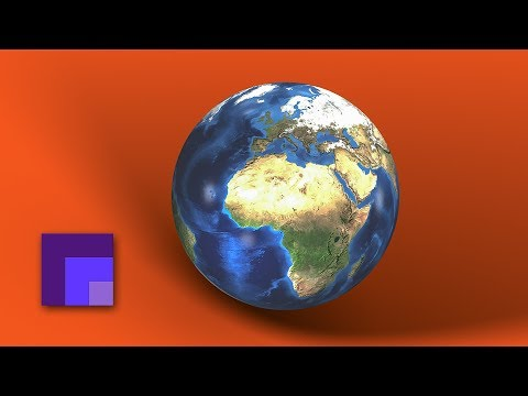 3D Natural Earth Globe in Photoshop CC 2018 | Working with Textured Spheres