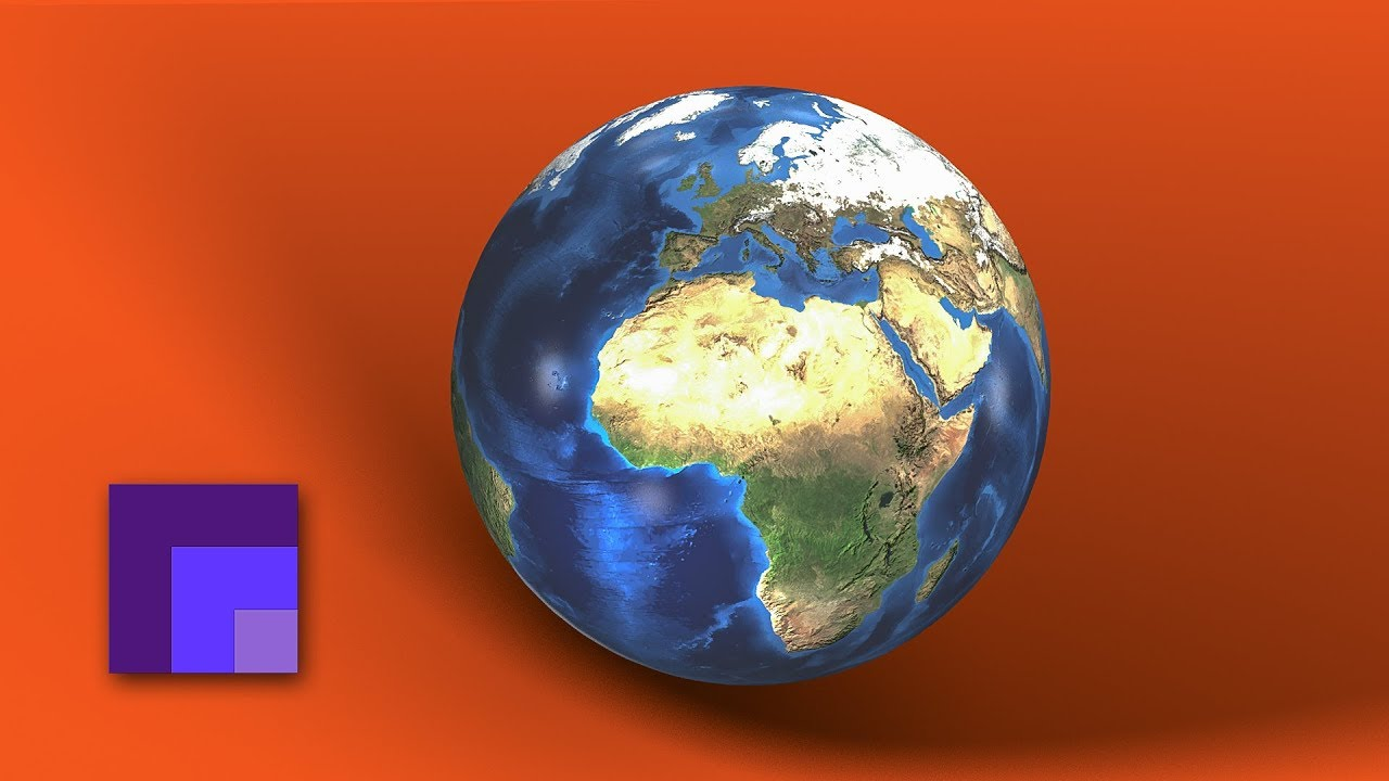 3D Natural Earth Globe in Photoshop CC 2018   Working with Textured