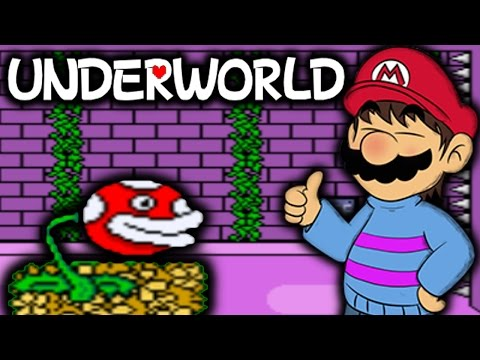 MARIO THE FALLEN HUMAN! - UNDERWORLD [SUPER MARIO WORLD UNDERTALE ROM HACK]