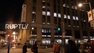 USA  Protesters demand Twitter ban 'Twitler' Trump