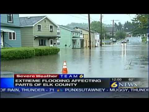 Major flooding in Elk County