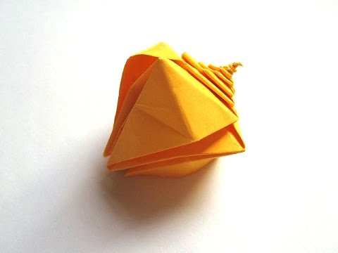 Origami spiral snail shell by