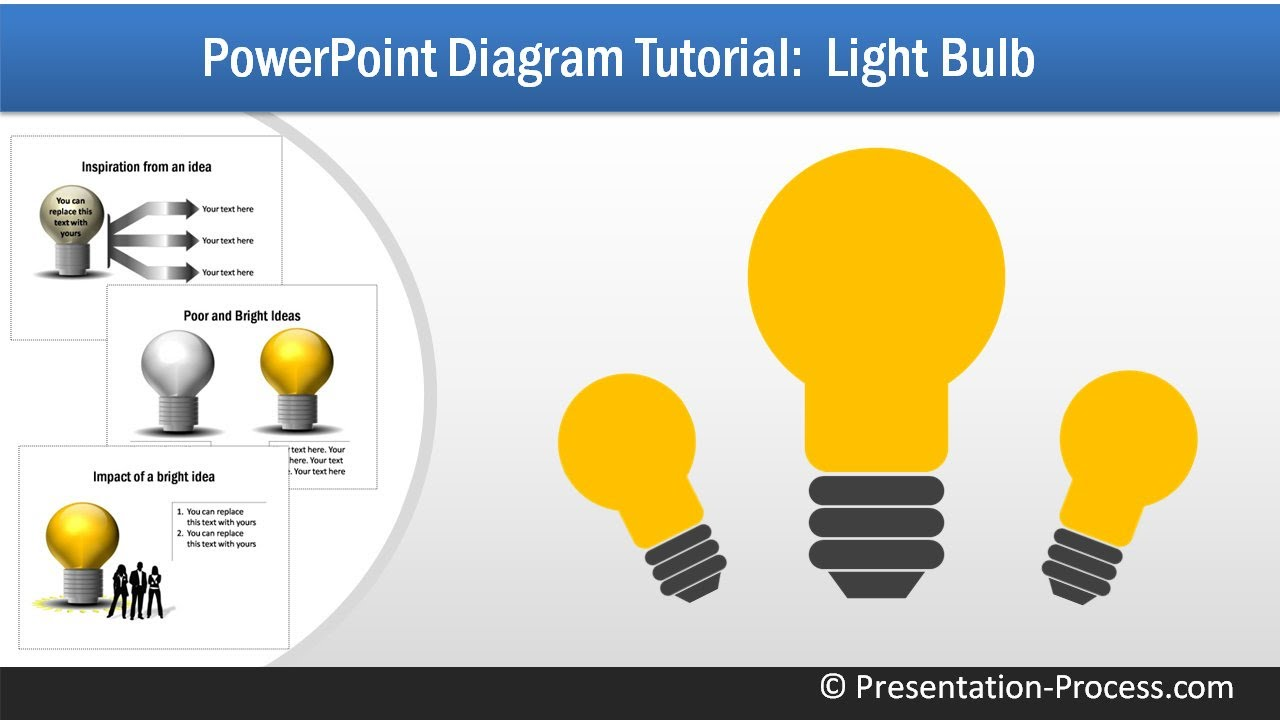 How to Create Bulb: PowerPoint Diagram Series - YouTube