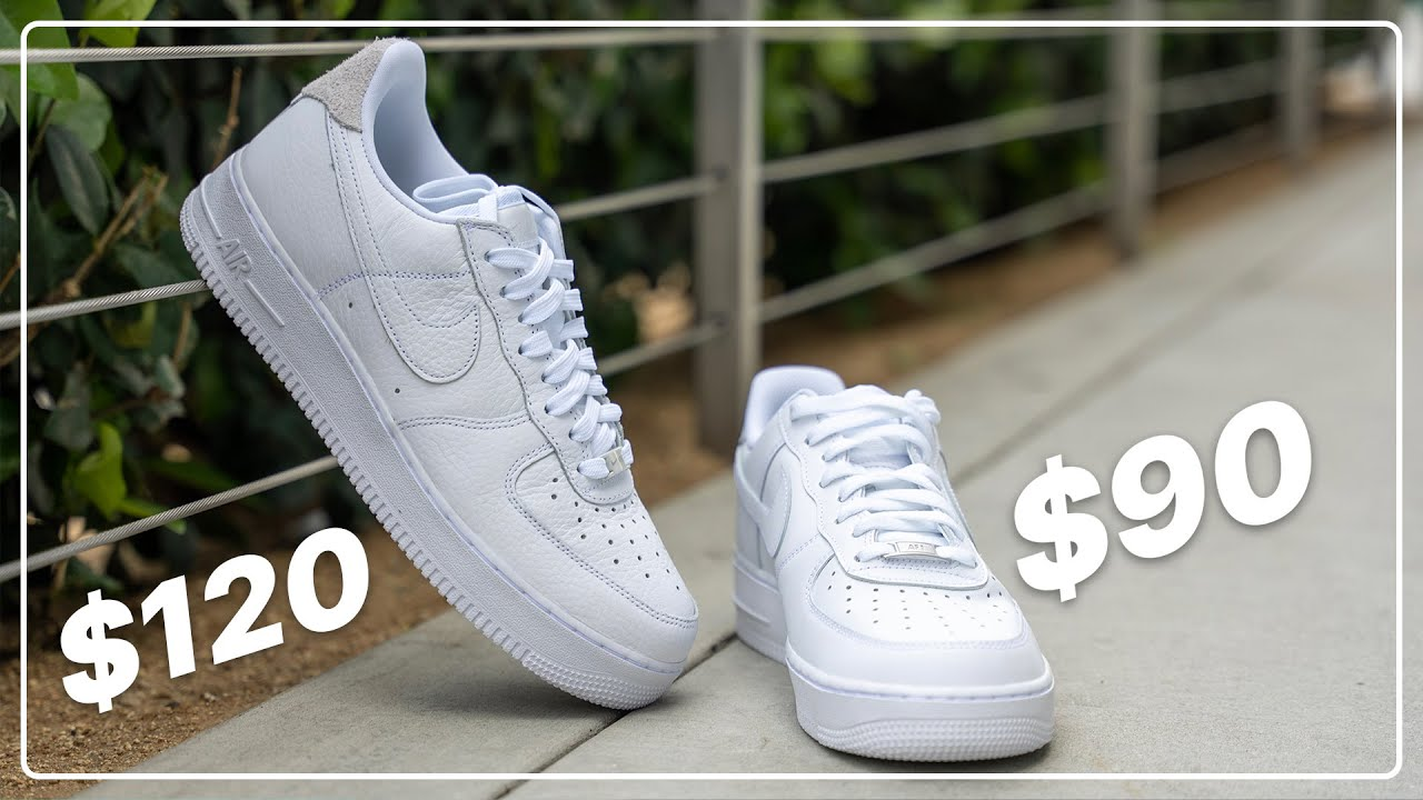 Download $90 Nike Air Force 1 '07 vs. $120 Air Force 1 Craft Comparison (Nike was WRONG)