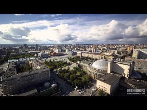 Очень красивое видео Новосибирска из фотографий