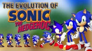 Repeat youtube video The Evolution of Sonic the Hedgehog