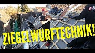 Dachdecker / Ziegelwurftechniken
