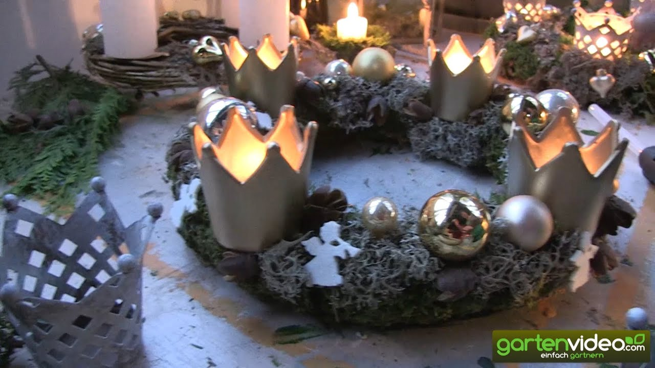 feenhafte adventskr nze mit moosen und flechten weihnachten mit sabine reber youtube. Black Bedroom Furniture Sets. Home Design Ideas