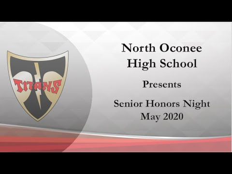 North Oconee High School Senior (Virtual) Honors Night Awards