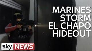Dramatic footage of El Chapo arrest raid