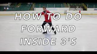HOW TO DO FORWARD INSIDE 3 TURNS | FIGURE SKATING ❄️❄️