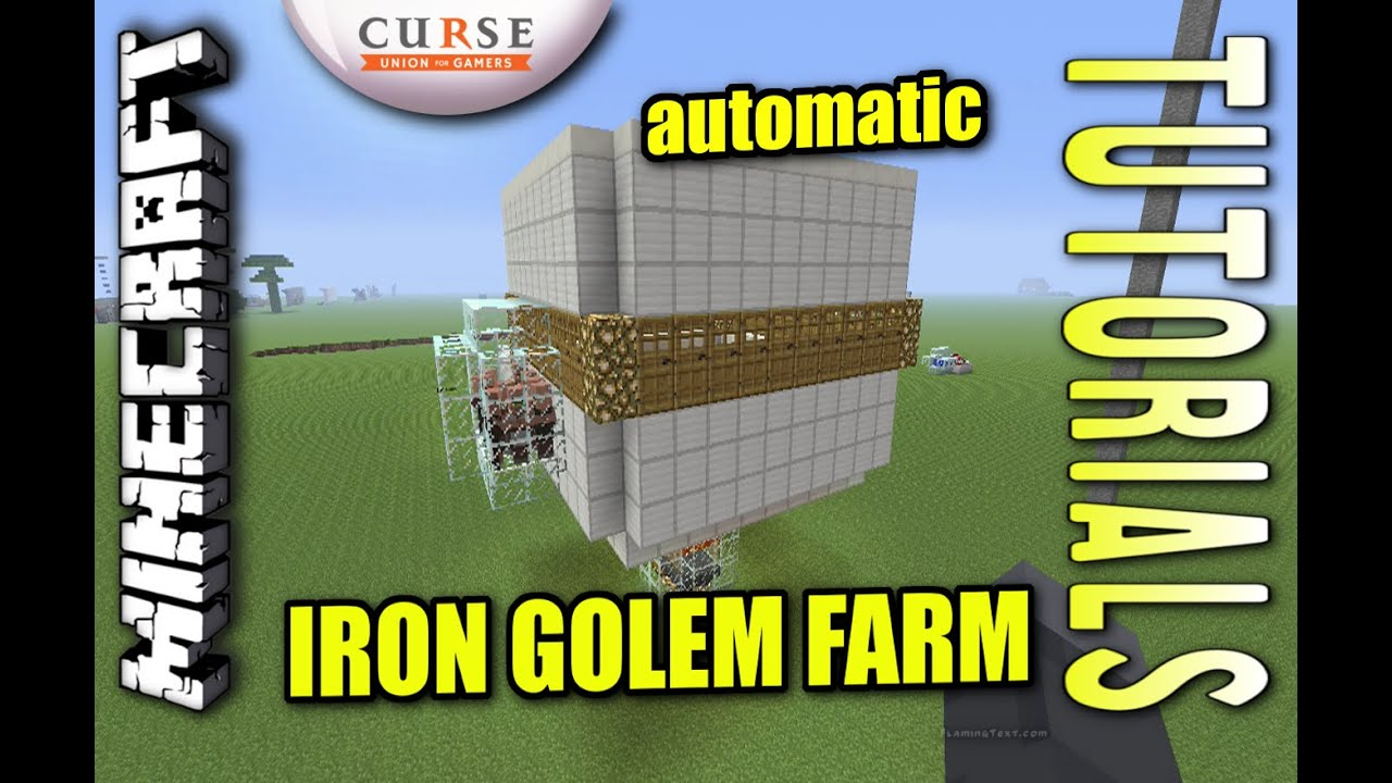 Minecraft PS4 - AUTOMATIC IRON GOLEM FARM - Tutorial ( PE / PS3 / XBOX /  WII U )